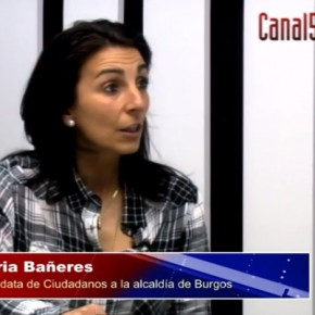 Entrevista TV: Gloria Bañeres Candidata de Ciudadanos (Especial Elecciones - Canal54 Burgos)
