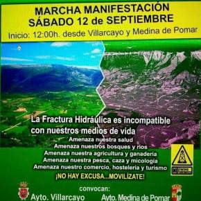 Marcha contra contra el Fracking desde Villarcayo y Medina de Pomar
