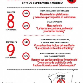 STOP FRACKING 2015 Madrid 8 y 9 Septiembre
