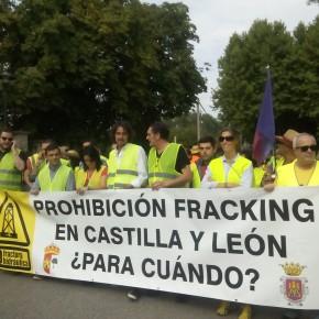 Manifiesto de Miguel de Lucio Alcalde de Villarcayo en la marcha contra la fractura hidráulica (Fracking).