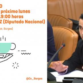 El Diputado Pablo Yáñez participará el lunes en un café ciudadano en la Tapería del Casino