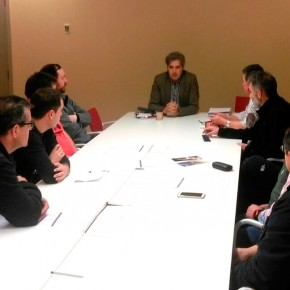 Jesús Ortego (Cs) se reúne con el Comité de Empresa de la UTE Jardines Burgos para analizar su situación contractual