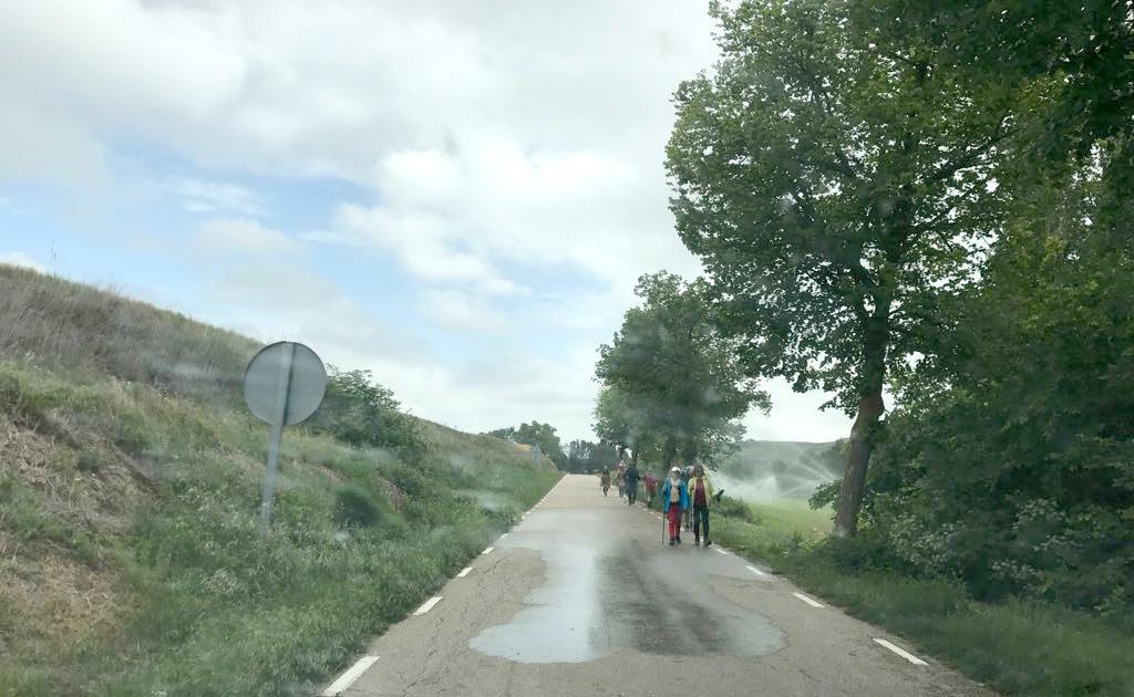 Camino de Santiago a su paso por Castrojeriz