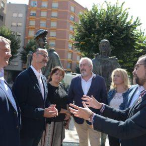 Luis Fuentes visita Miranda y pide más apoyos autonómicos para San Juan del Monte