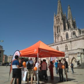 Cs Burgos organiza una carpa informativa para atender a la ciudadanía de la capital