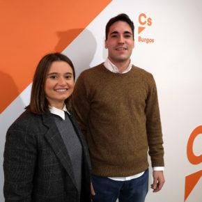 Álvaro Sánchez Peraita y Sonia Lomas, nuevos miembros de la Junta Directiva de Ciudadanos en la ciudad de Burgos