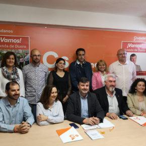 """Ciudadanos presenta en Aranda una candidatura equilibrada y un programa """"en el que se ha escucha a la gente"""""""