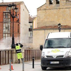 Ciudadanos pide un plan de limpieza intensiva y desinfección de cara al inicio de la desescalada en Miranda de Ebro.